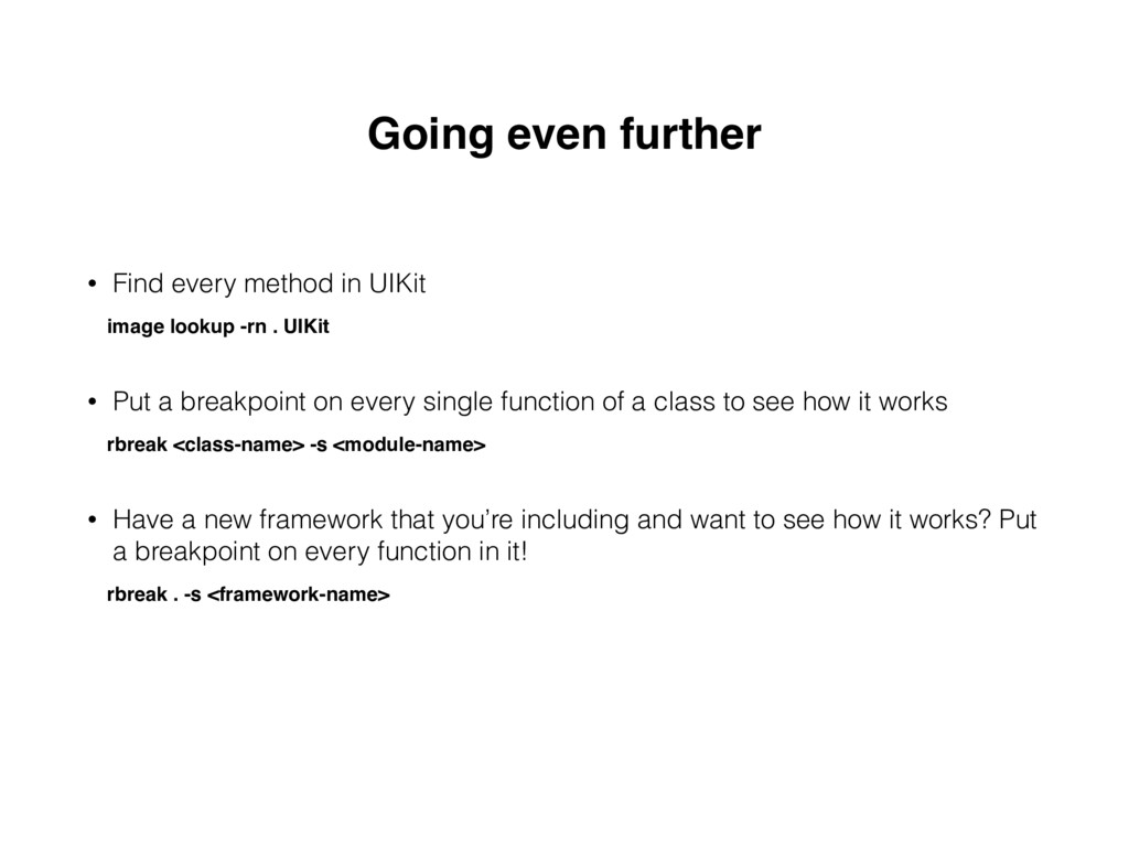 Going even further • Find every method in UIKit...