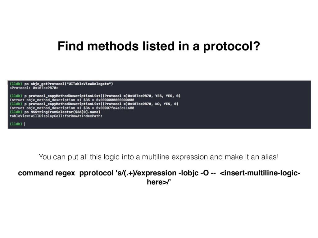 Find methods listed in a protocol? You can put ...