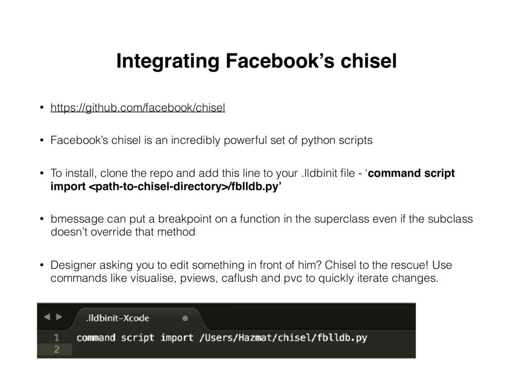 Integrating Facebook's chisel • https://github....