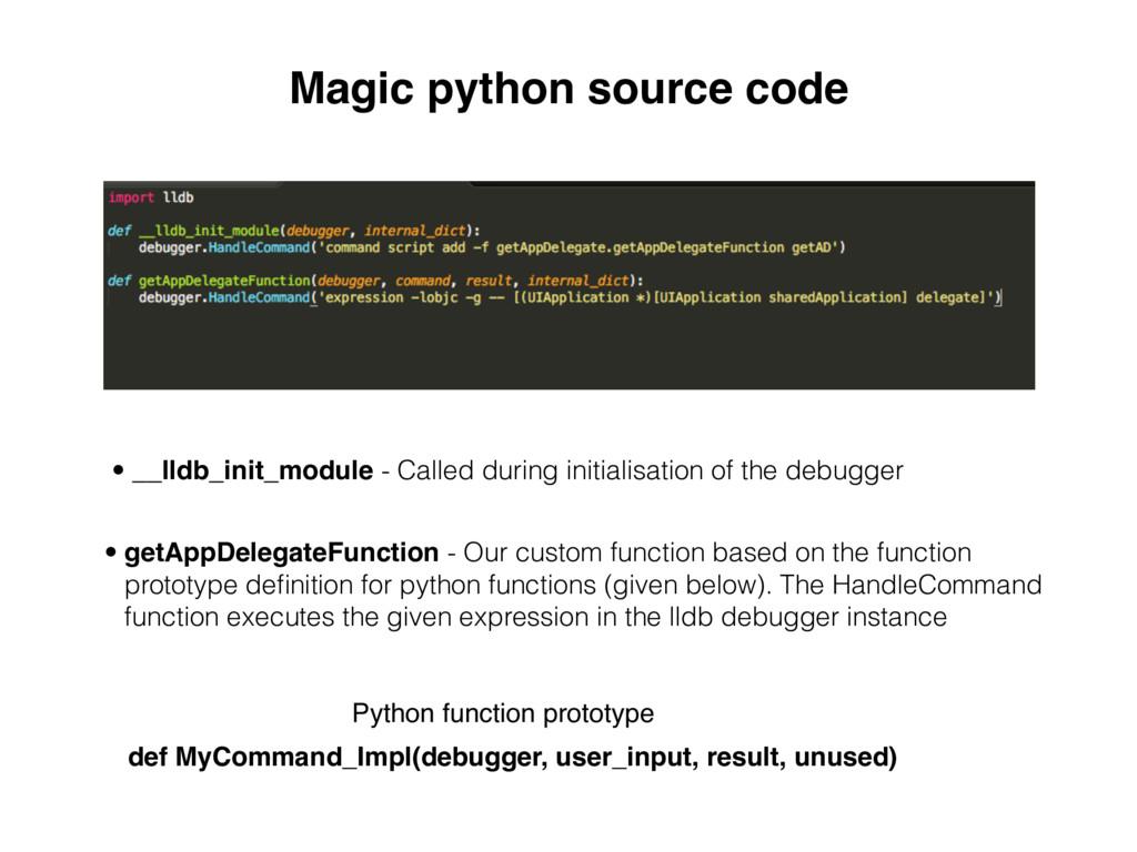 Magic python source code • __lldb_init_module -...