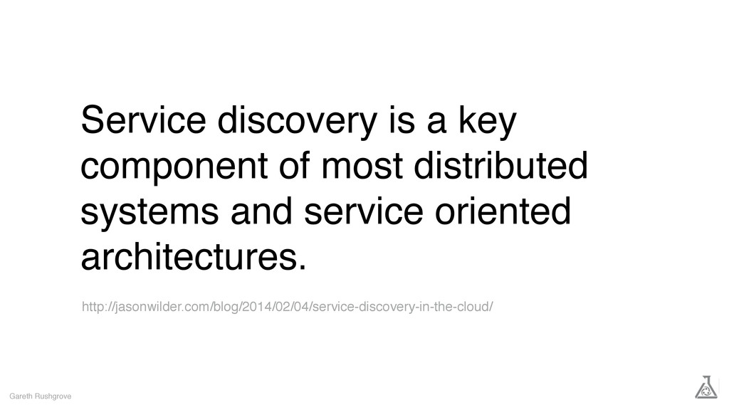 Service discovery is a key component of most di...