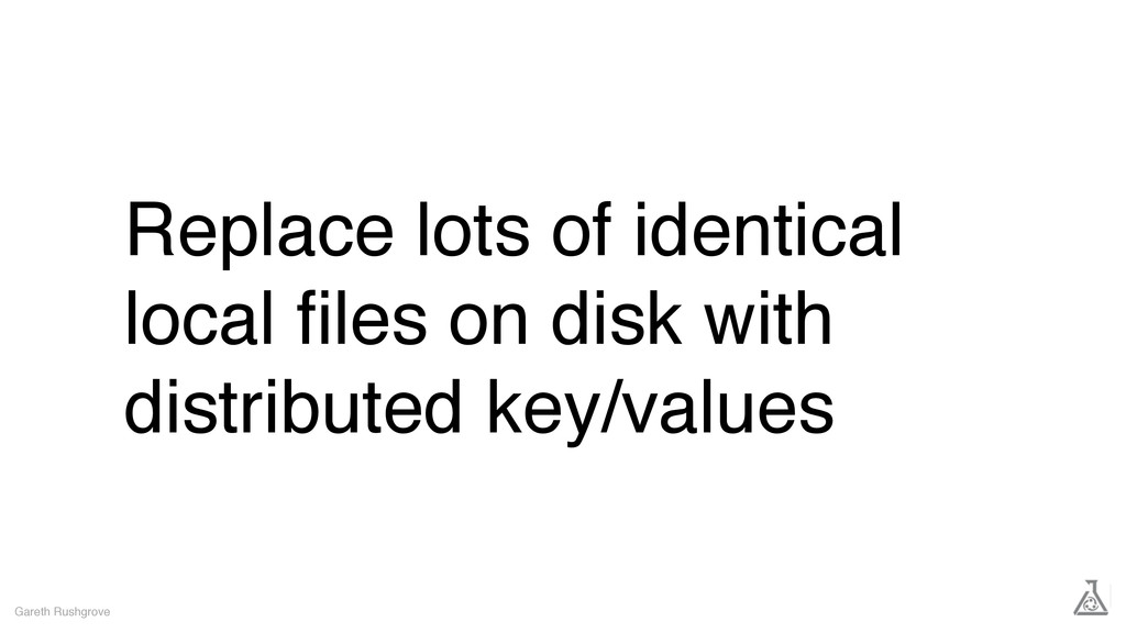 Replace lots of identical local files on disk wi...
