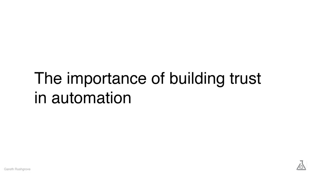 The importance of building trust in automation ...