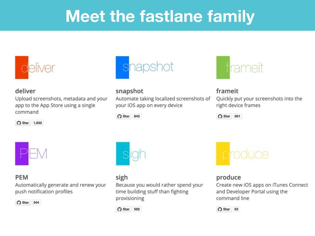 Meet the fastlane family