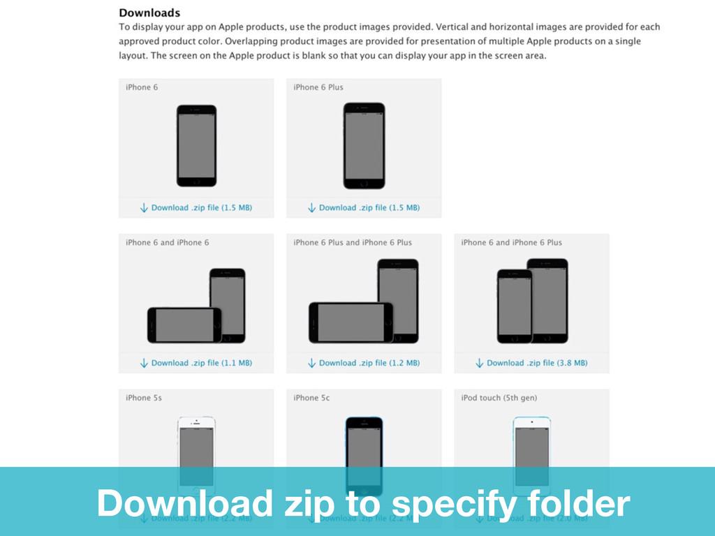 Download zip to specify folder