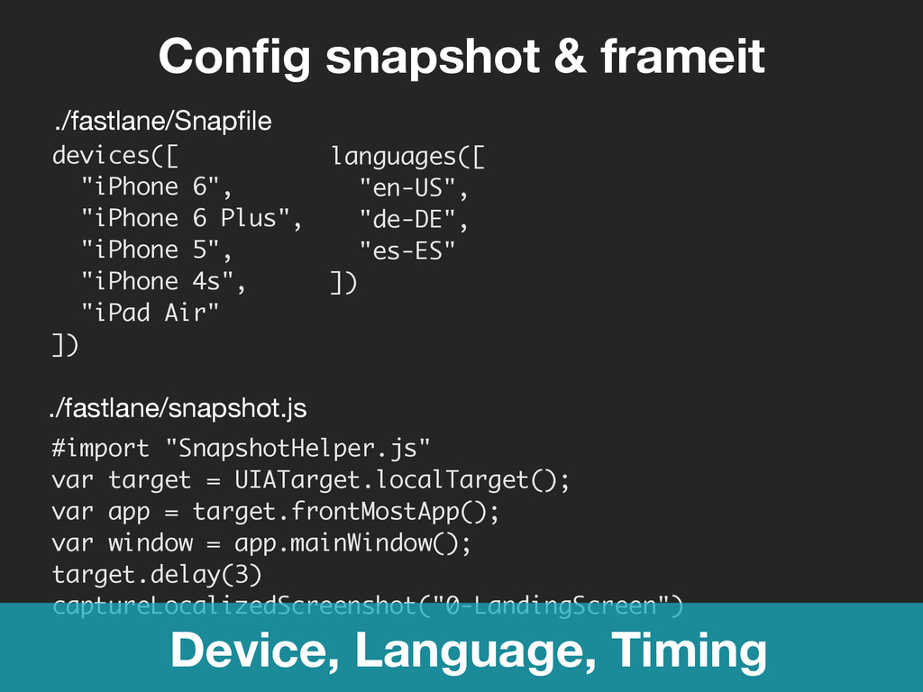 "Config snapshot & frameit #import ""SnapshotHelpe..."