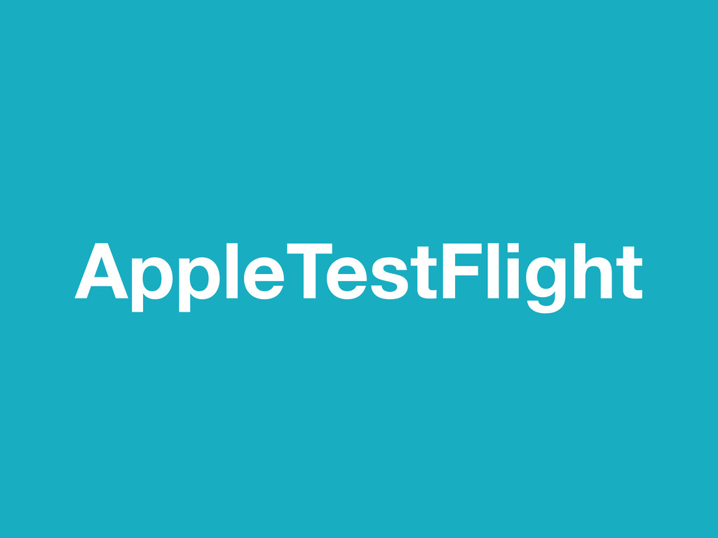 AppleTestFlight
