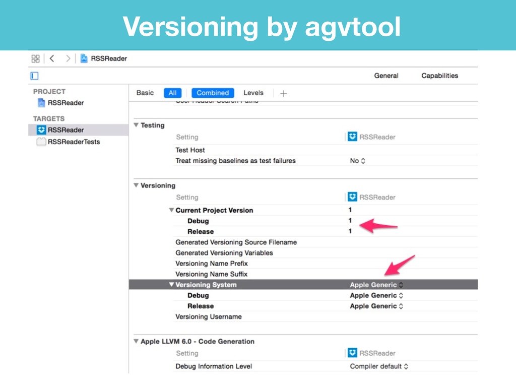 Versioning by agvtool