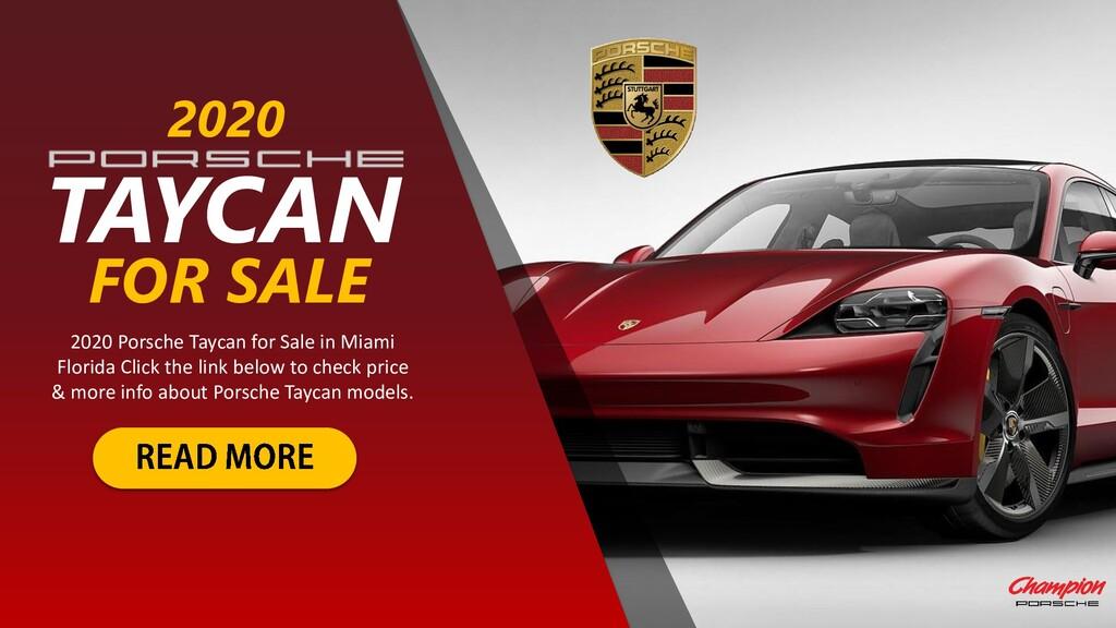 TAYCAN 2020 2020 Porsche Taycan for Sale in Mia...