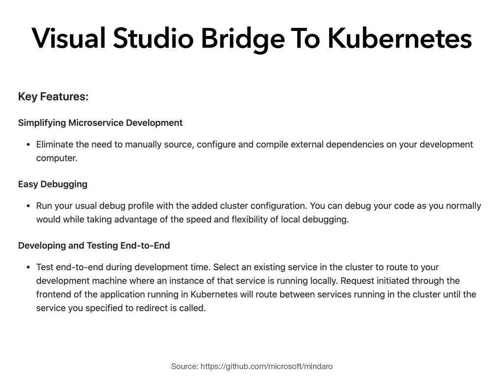 Visual Studio Bridge To Kubernetes Source: http...