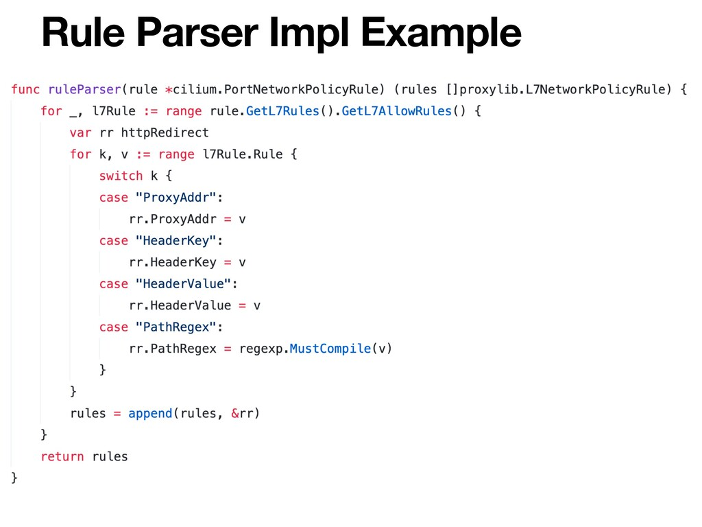 Rule Parser Impl Example