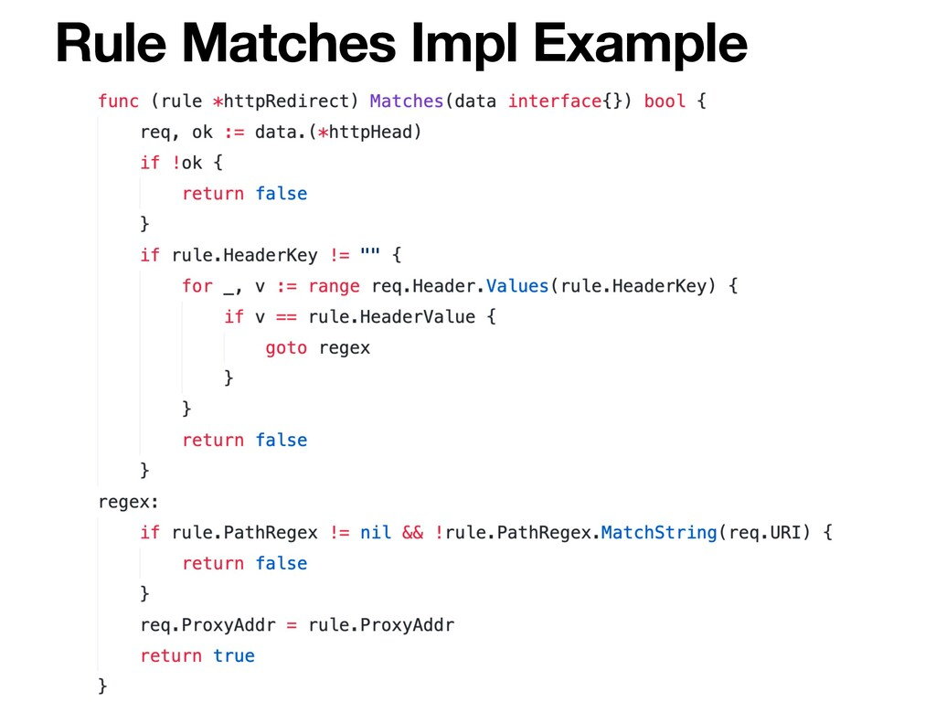 Rule Matches Impl Example