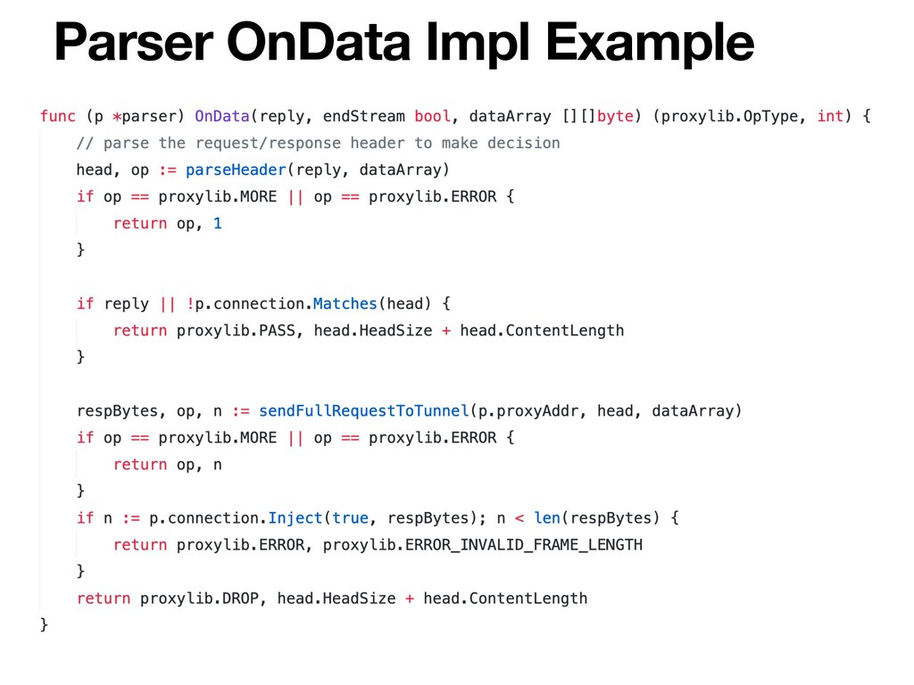 Parser OnData Impl Example