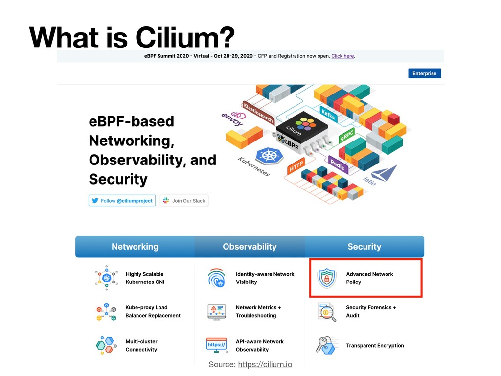 What is Cilium? Source: https://cilium.io