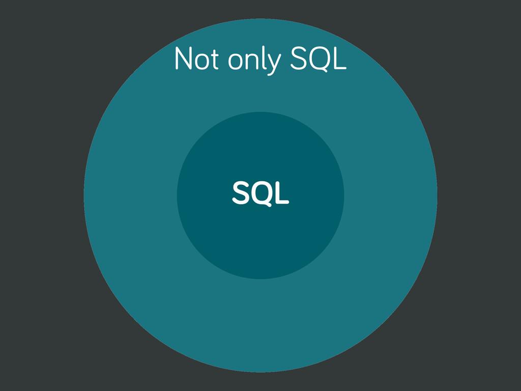 SQL Not only SQL