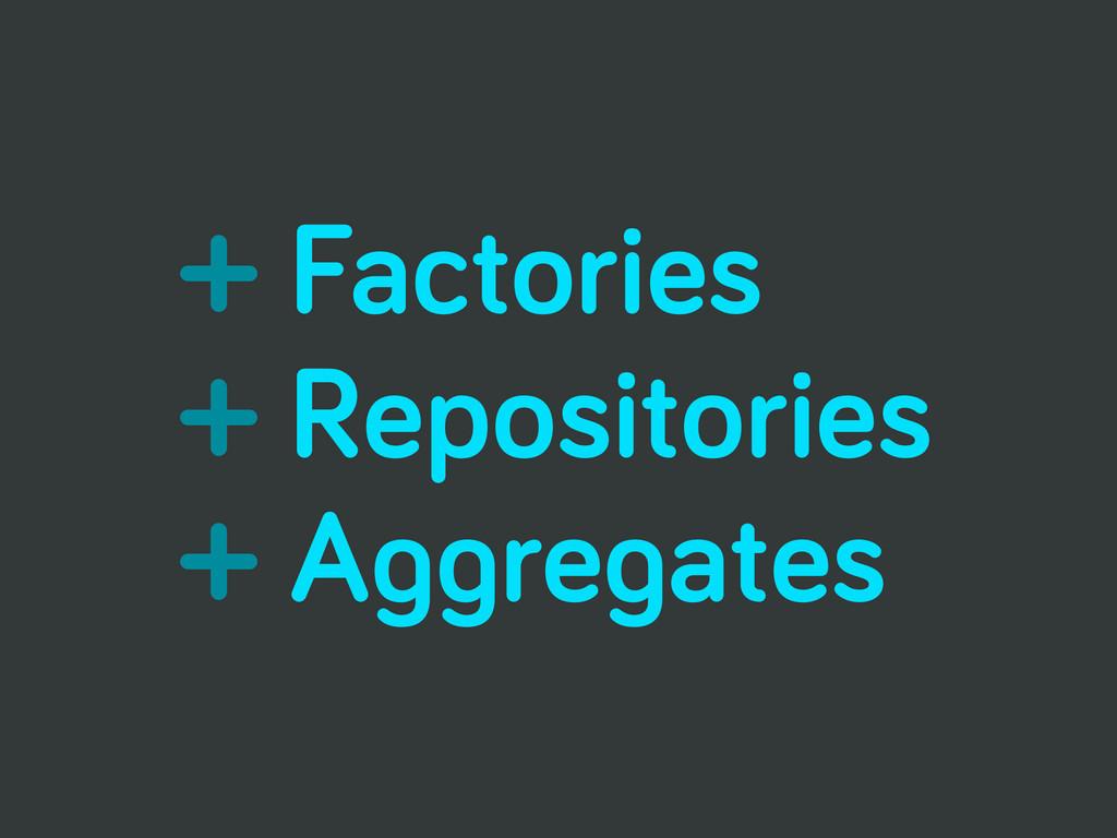 + Factories + Repositories + Aggregates