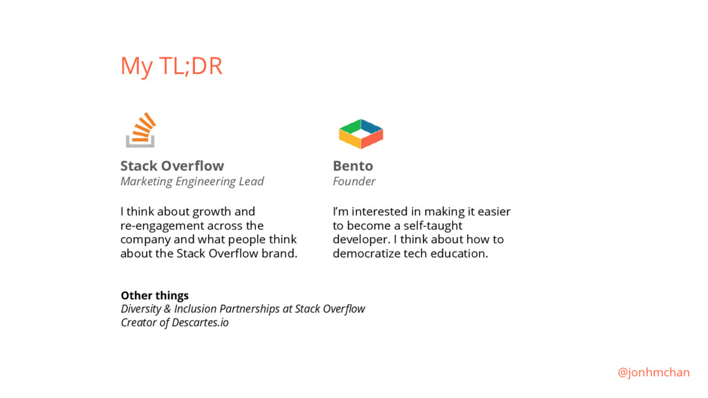 My TL;DR Stack Overflow Marketing Engineering L...