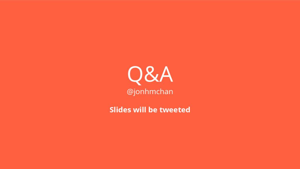 Q&A @jonhmchan Slides will be tweeted