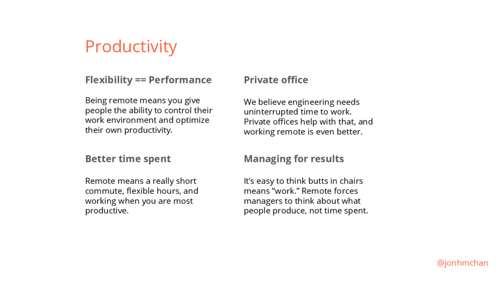Productivity Flexibility == Performance Being r...