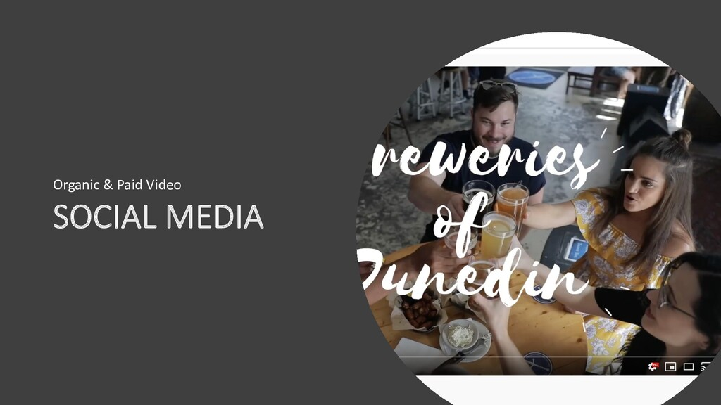 SOCIAL MEDIA Organic & Paid Video