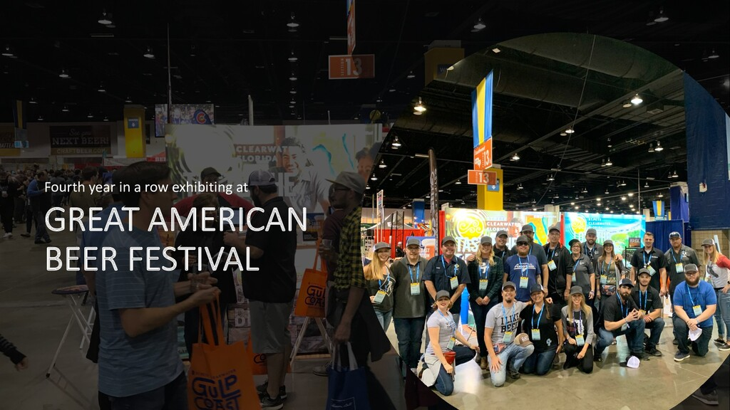 GREAT AMERICAN BEER FESTIVAL Fourth year in a r...
