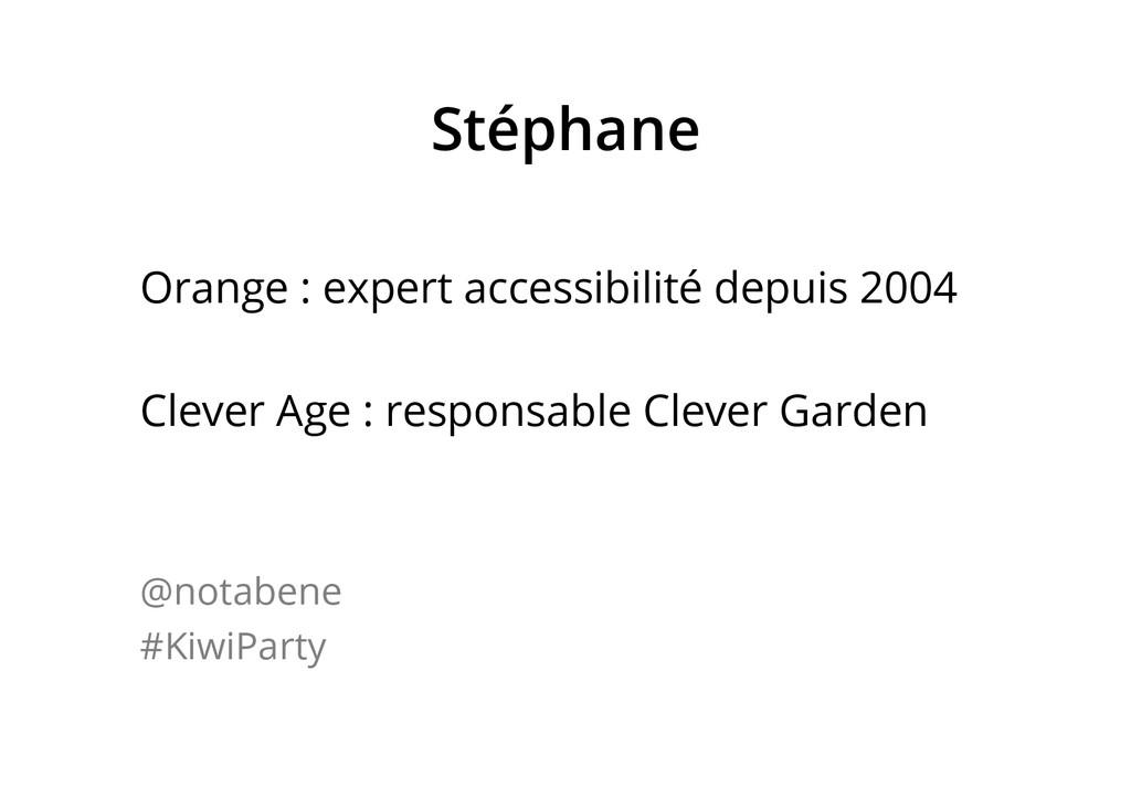Stéphane Orange : expert accessibilité depuis 2...