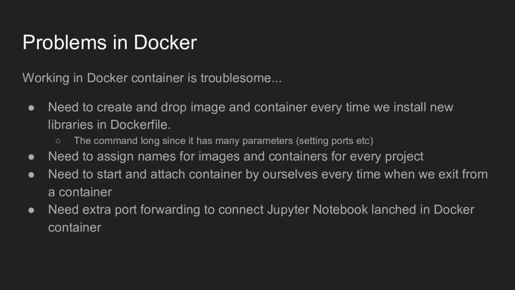 Problems in Docker Working in Docker container ...