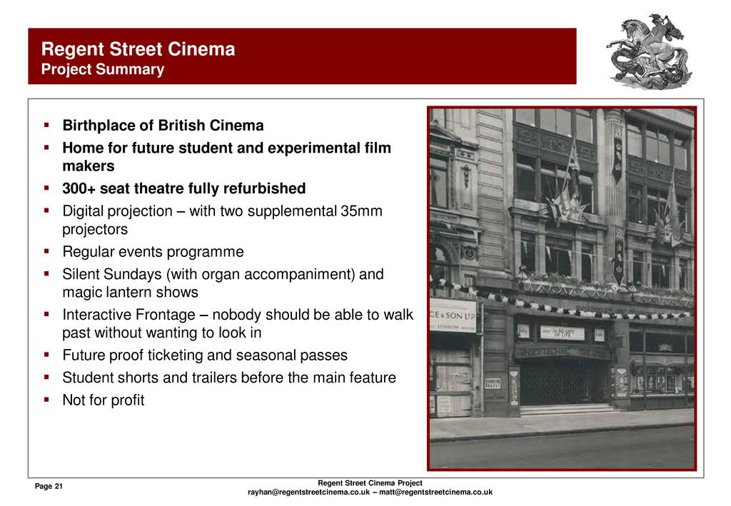 Page 21 Regent Street Cinema Project rayhan@reg...