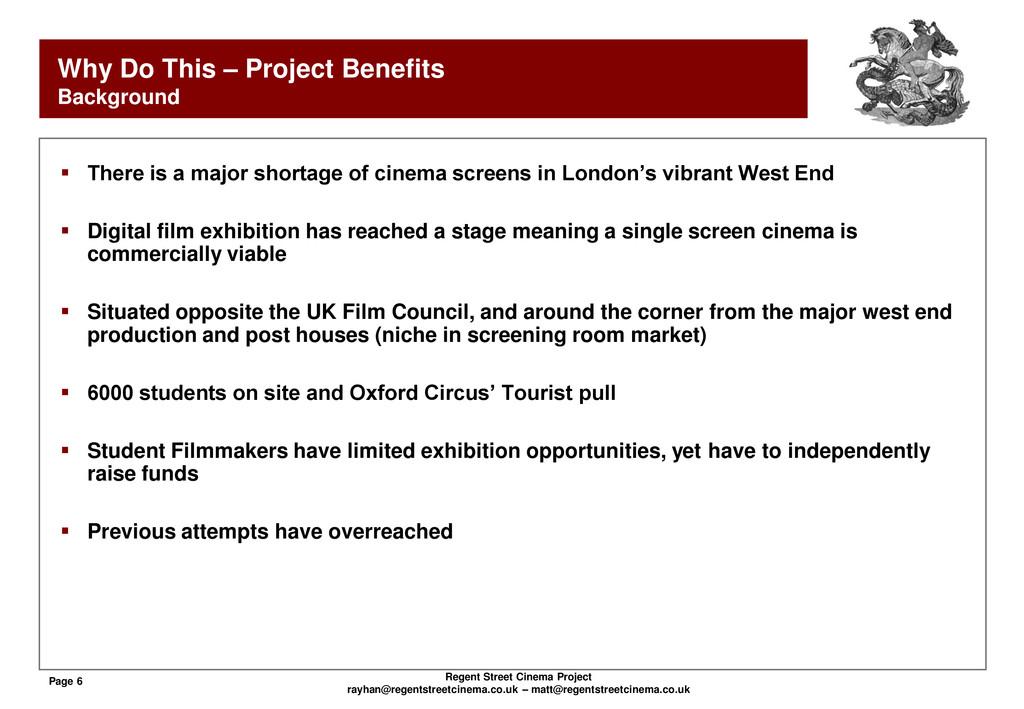 Page 6 Regent Street Cinema Project rayhan@rege...
