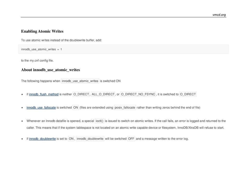 vmcd.org Enabling Atomic Writes To use atomic w...