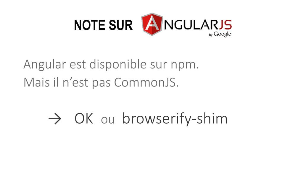 Angular est disponible sur npm. Mais il n'est p...