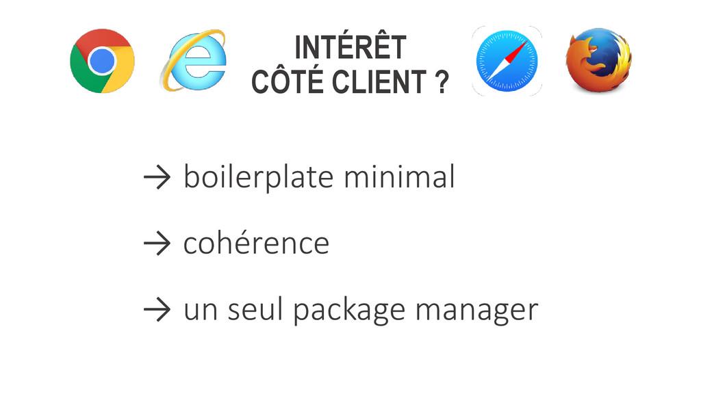 INTÉRÊT CÔTÉ CLIENT ? → boilerplate minimal → c...