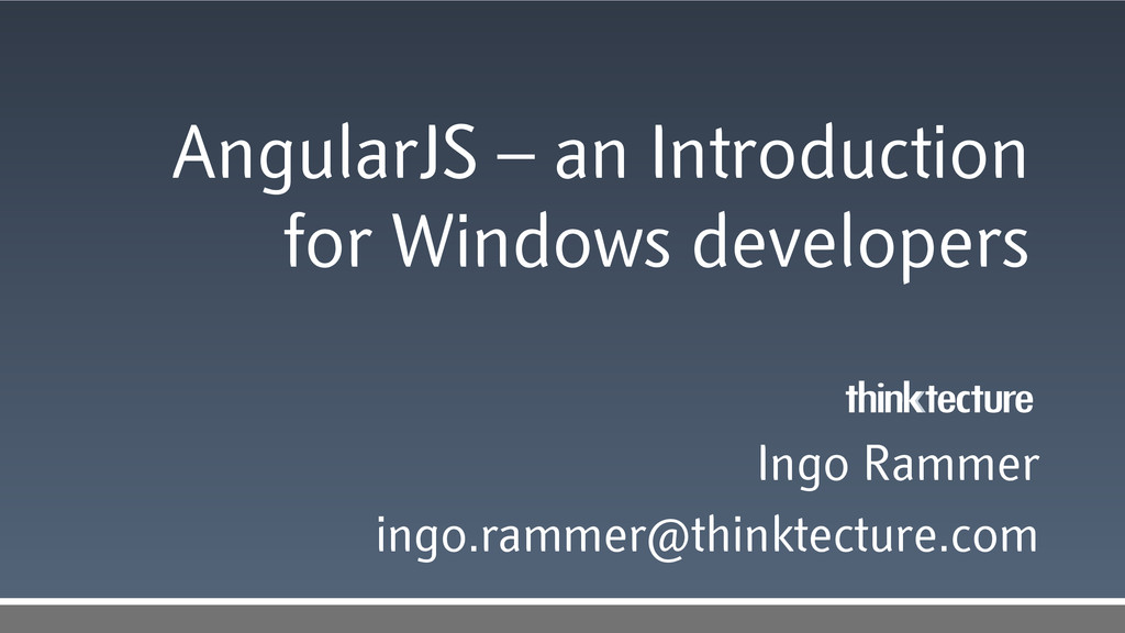 AngularJS – an Introduction for Windows develop...