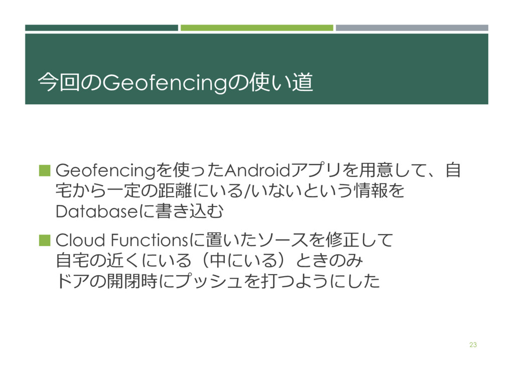 ('Geofencing4. ¢ Geofencing4Android!*+...