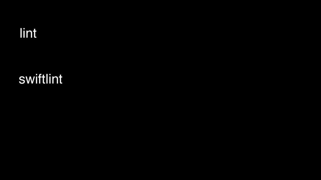 lint swiftlint
