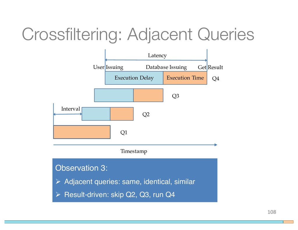 Crossfiltering: Adjacent Queries 108 Execution ...