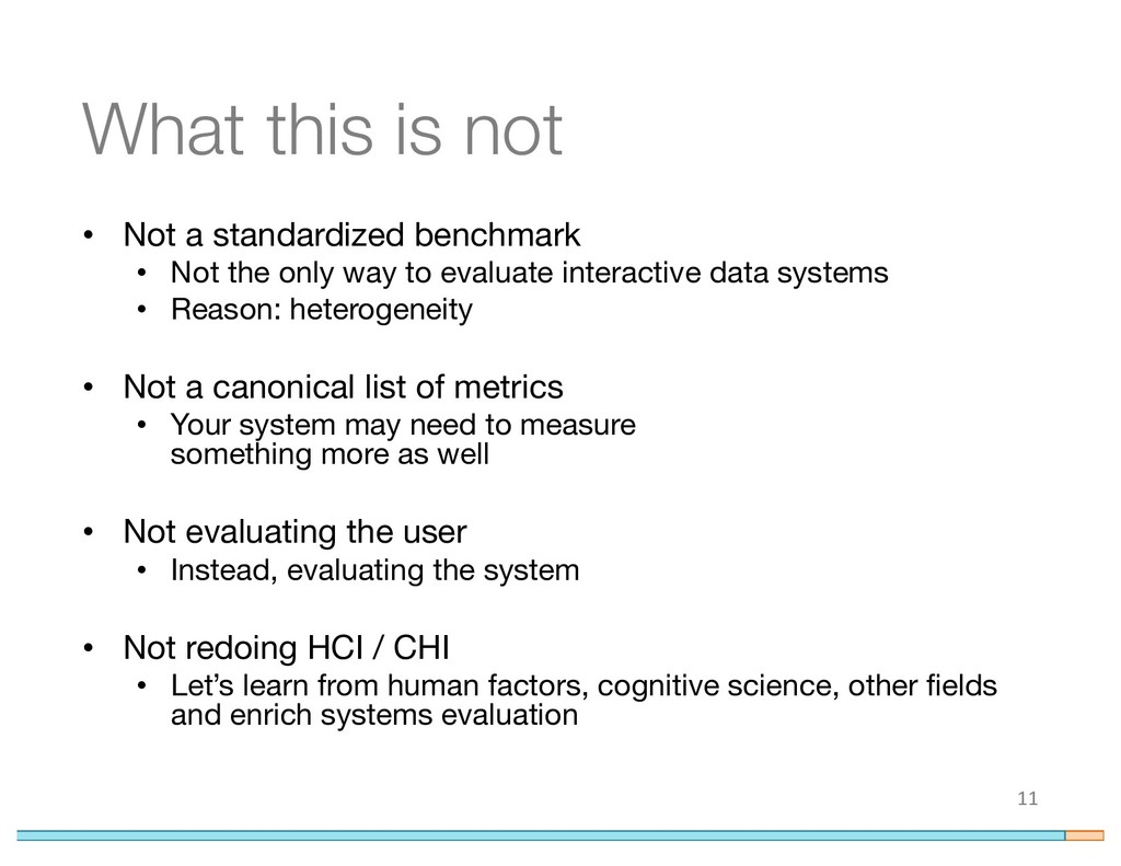 What this is not • Not a standardized benchmark...