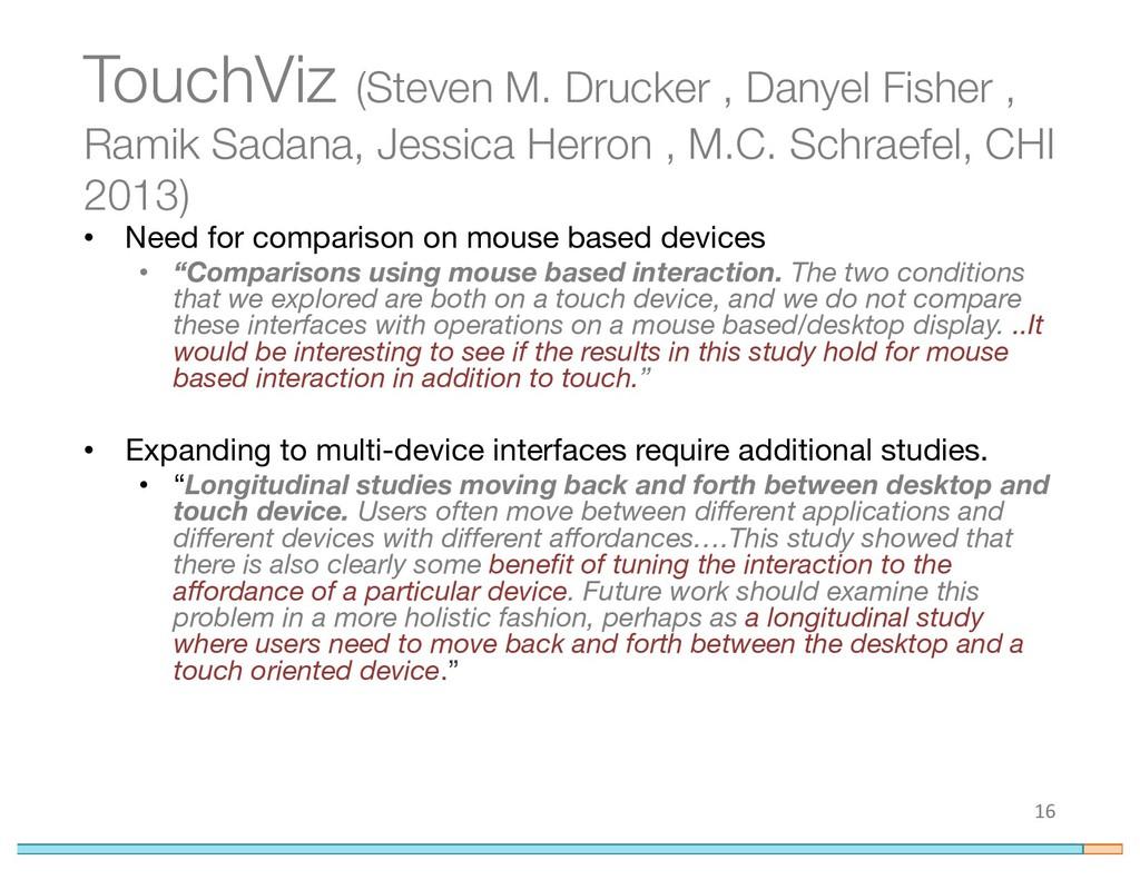 TouchViz (Steven M. Drucker , Danyel Fisher , R...