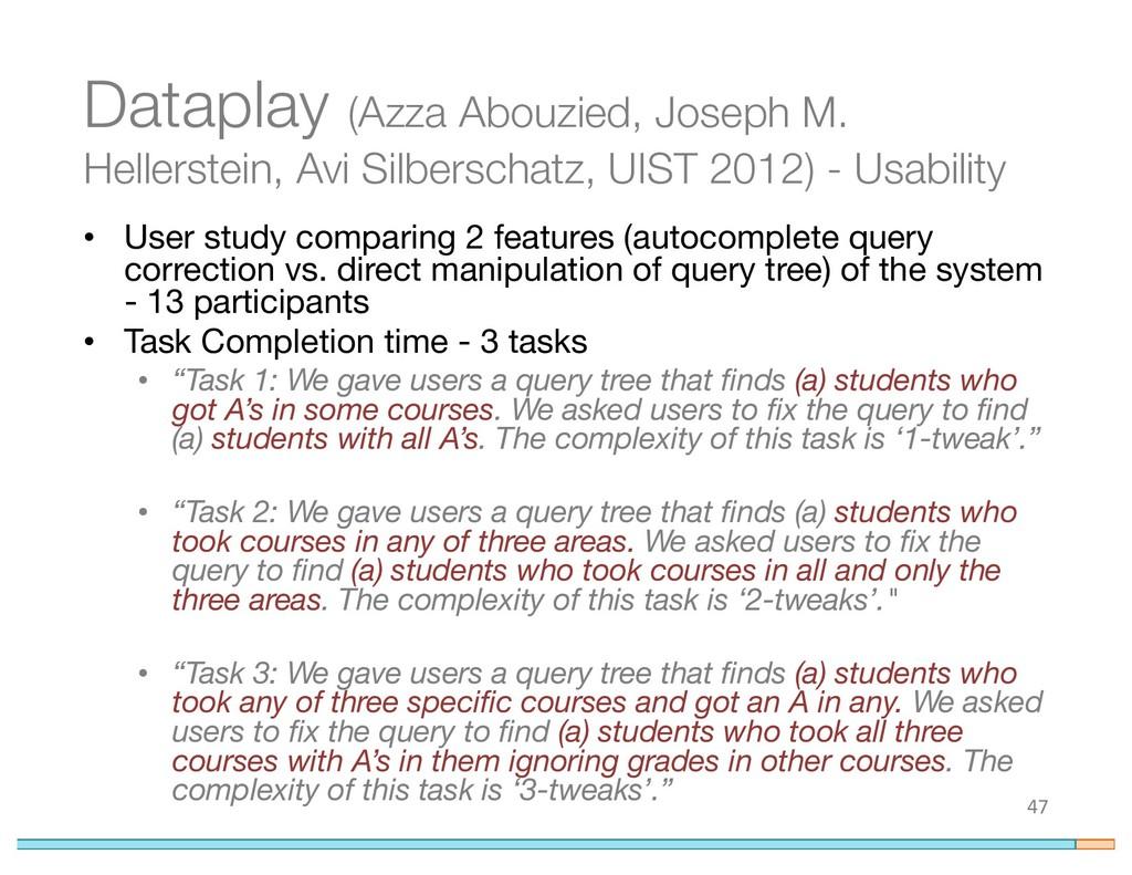 Dataplay (Azza Abouzied, Joseph M. Hellerstein,...