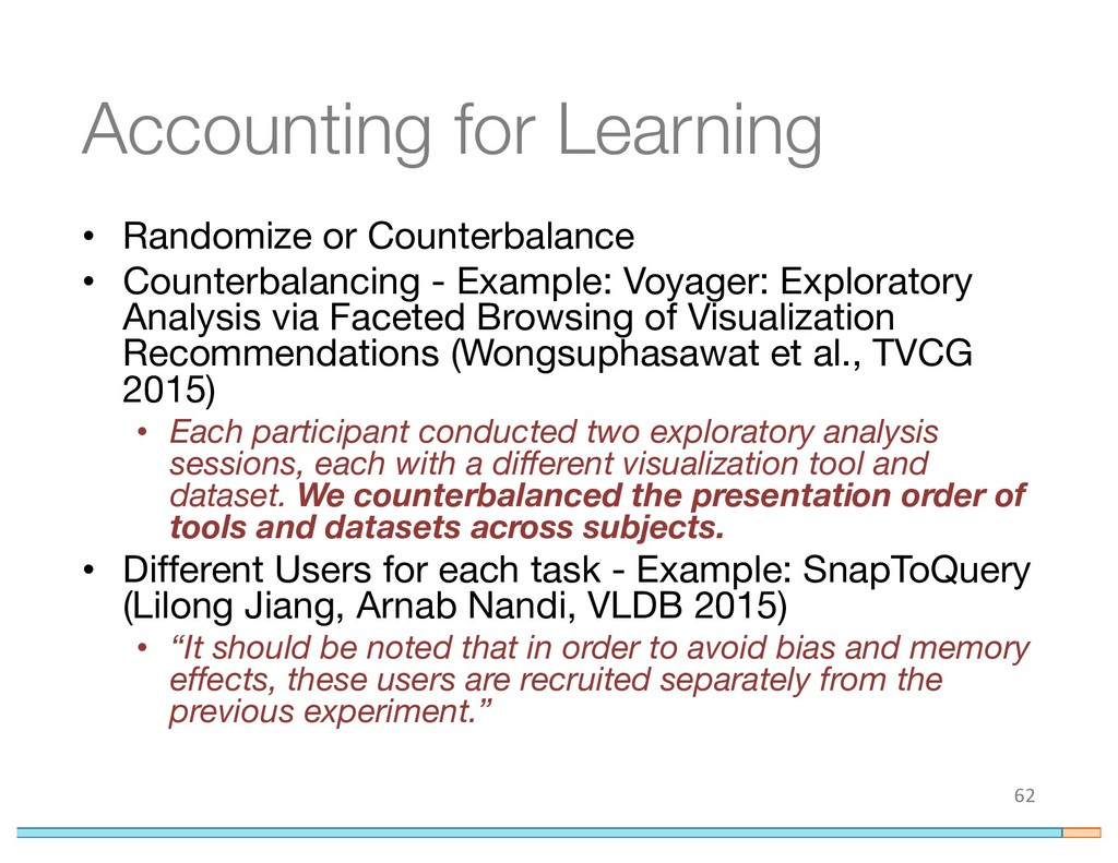 Accounting for Learning • Randomize or Counterb...