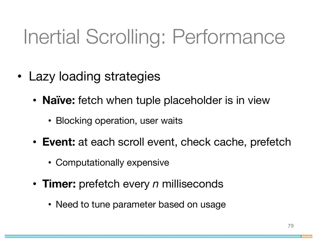 Inertial Scrolling: Performance • Lazy loading ...
