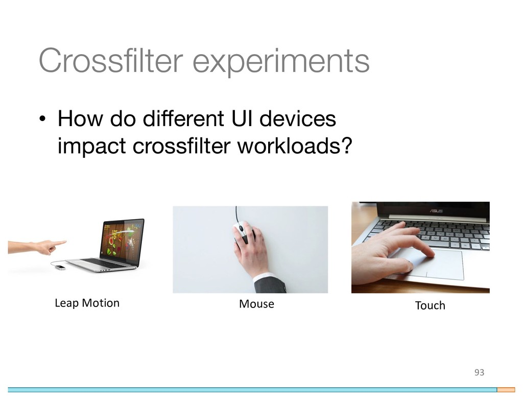 Crossfilter experiments • How do different UI d...
