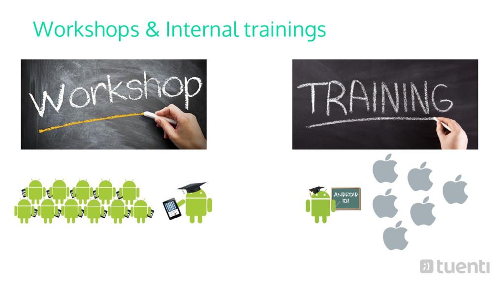 Workshops & Internal trainings