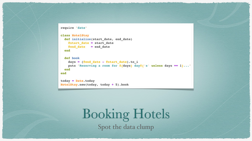 "Booking Hotels Spot the data clump require ""dat..."