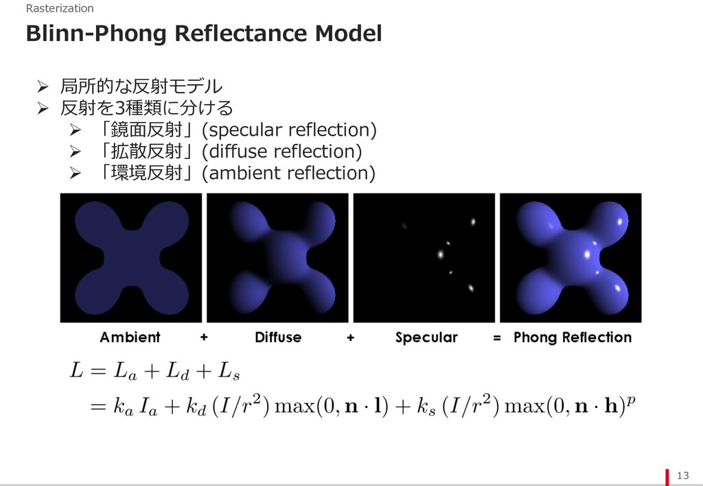 13 Rasterization Blinn-Phong Reflectance Model ...