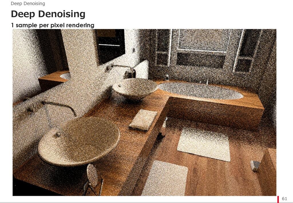 Deep Denoising 61 Deep Denoising 1 sample per p...