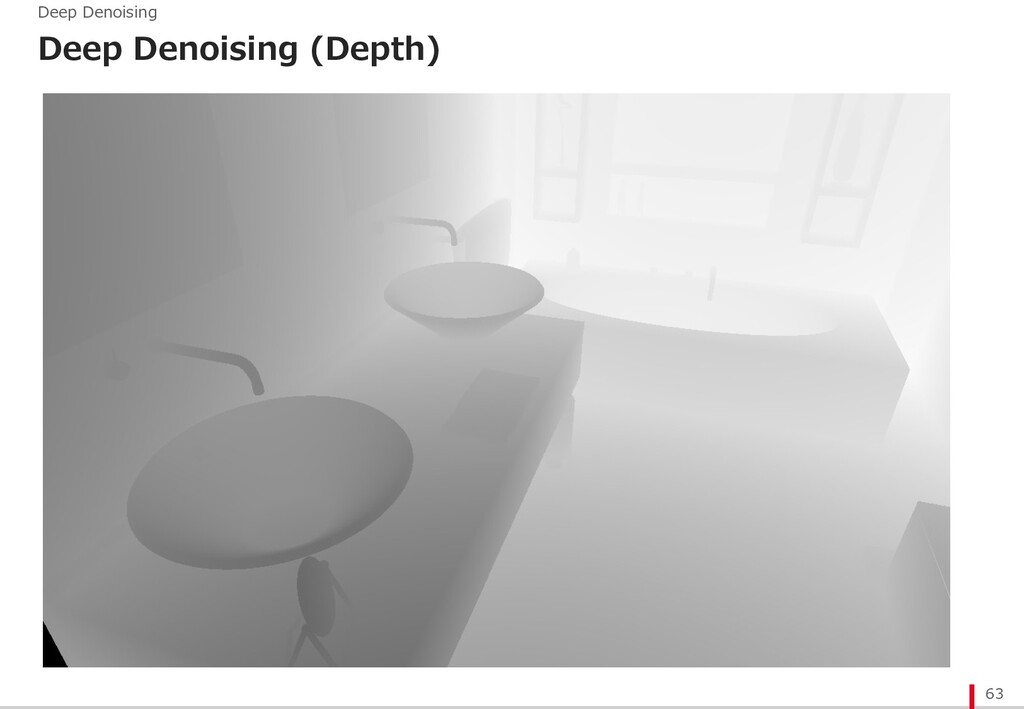 Deep Denoising (Depth) 63 Deep Denoising