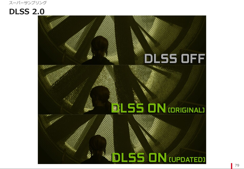 DLSS 2.0 79 スーパーサンプリング