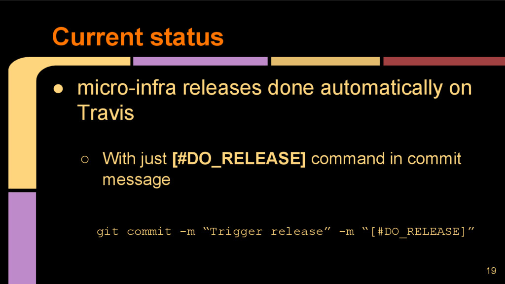 ● micro-infra releases done automatically on Tr...