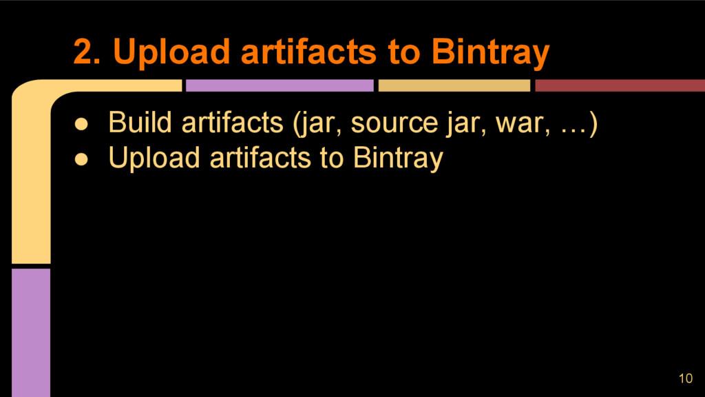 ● Build artifacts (jar, source jar, war, …) ● U...